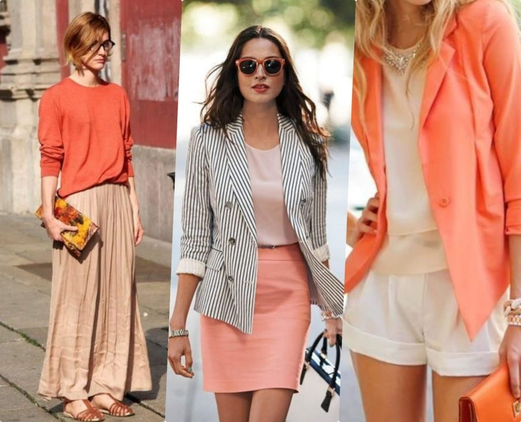 outfits color coral