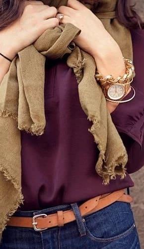 combinar el color morado