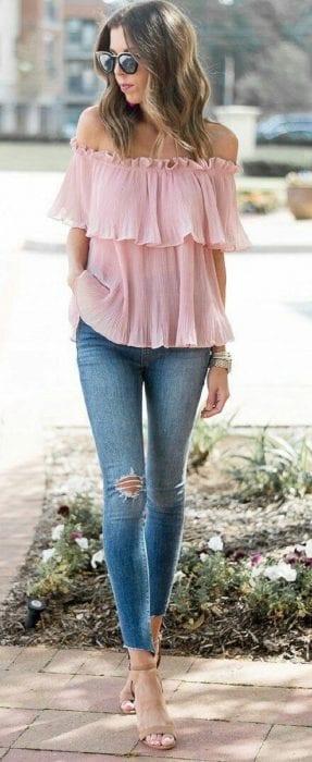 combinar el color rosa