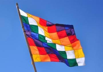 los colores de bandera whipala