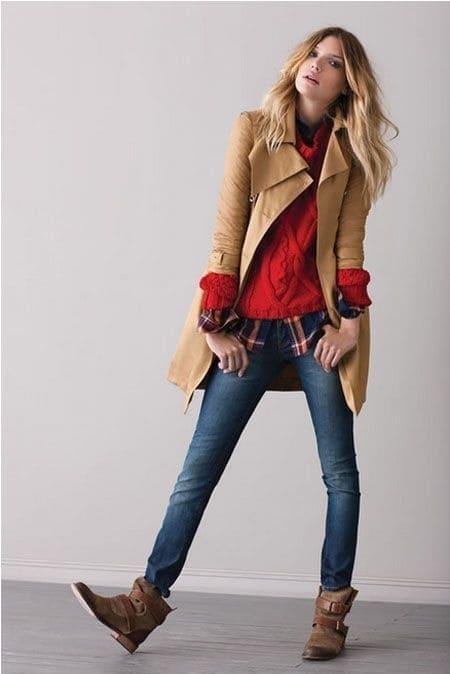 combinar rojo outfits