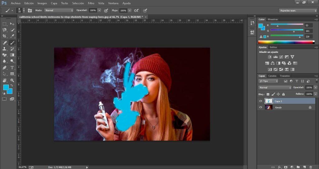 humo de colores vaper
