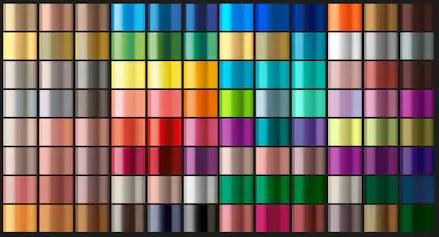 colores metalizados